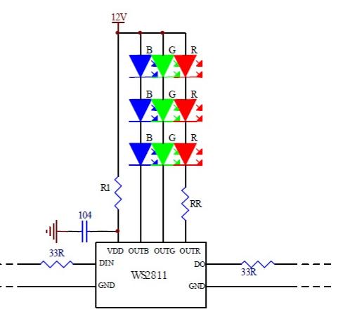 WS2811 Schematic Picture